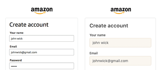 Improve your sign-up form with off-white text fields