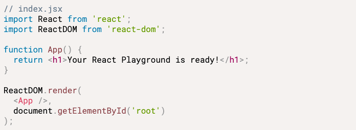 How to Setup your local react playground