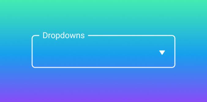 UI cheat sheet: dropdown field