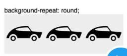 CSS background-repeat: round