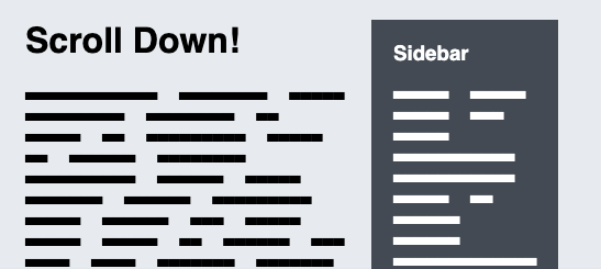 CSS Sticky positioning