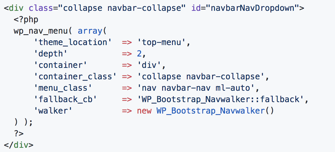 Bootstrap 4 Navwalker