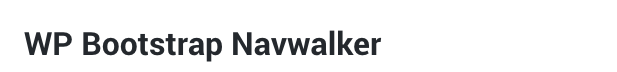 Wordpress Bootstrap 4 navwalker