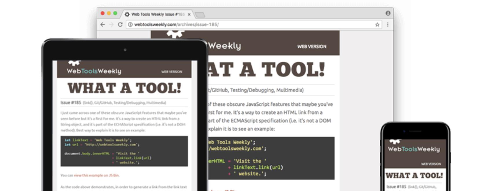 Web Tool Weekly